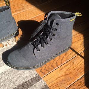 Dr. Martens Sheridan Black/Grey Canvas Boots